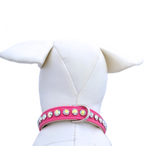 Ashley Bubblegum Dog Collar