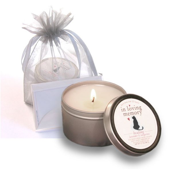 In love and Memory Pet Lovers Cat Candle