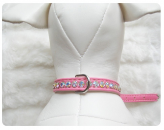 Jackie O Collar Hot Pink