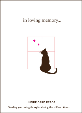 Loyal Friend Cat Sympathy Card