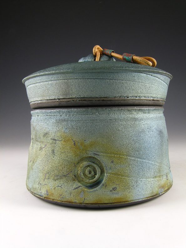 Raku Pet Urn- Morning Sky (for pet cremains up to 48lbs)