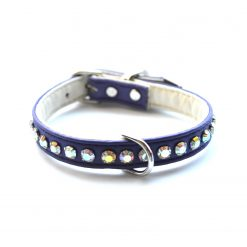 Jackie O Designer Dog Collar Purple