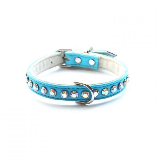 Jackie O Designer Dog Collar Teal