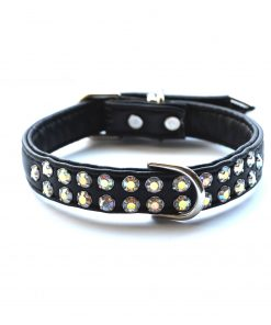 Double Row Dog Collars Black