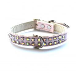 Double Row Dog Collars Light Pink