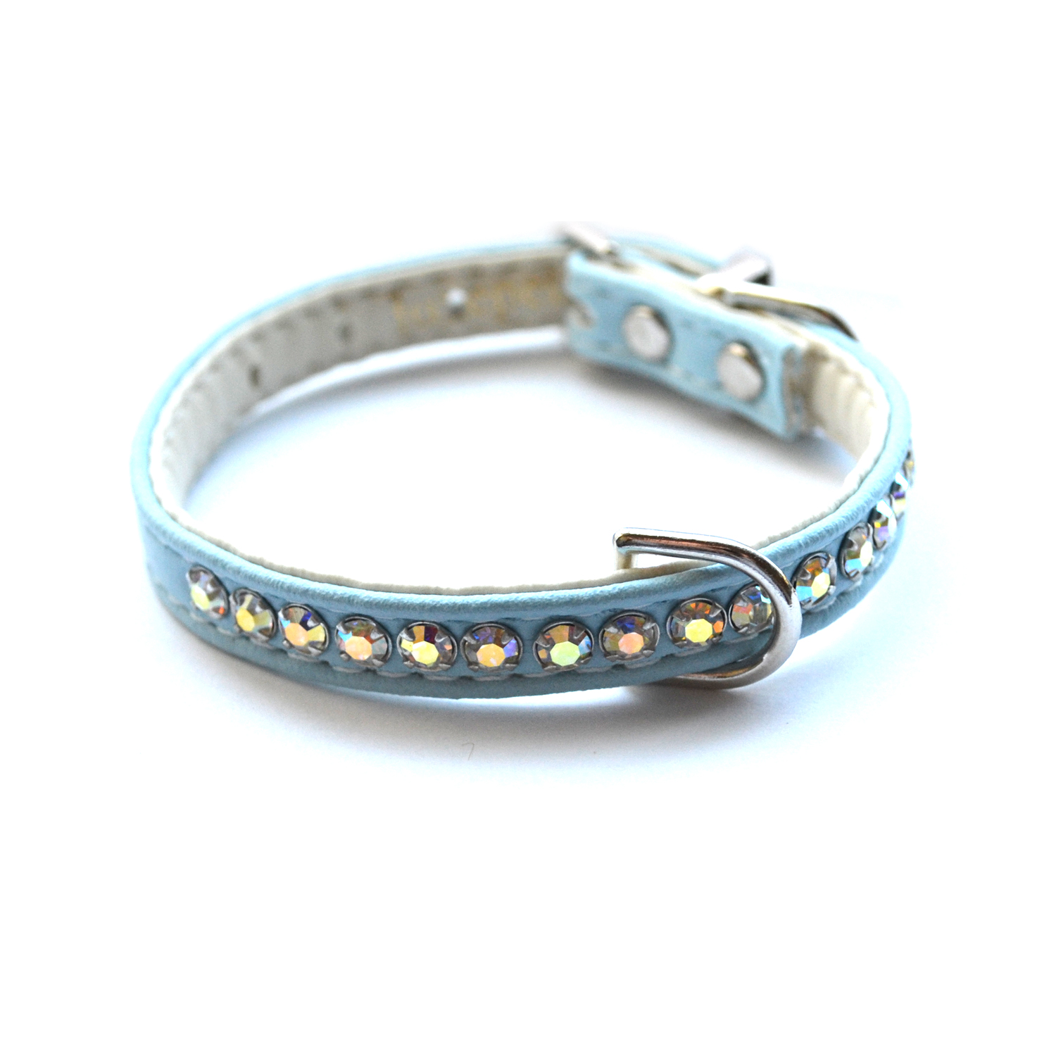 Jackie O Dog Collar Light Blue