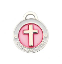 pet charm - cross pink