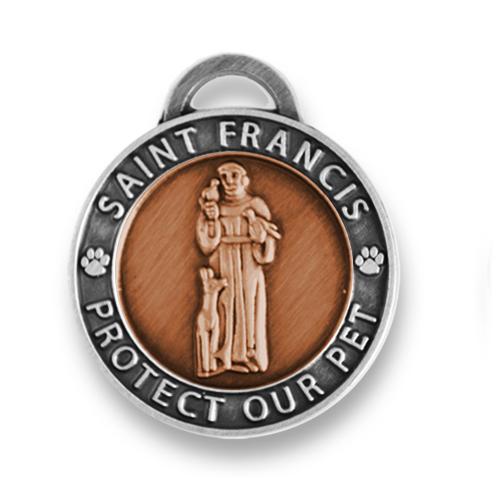 St. Francis dog medal