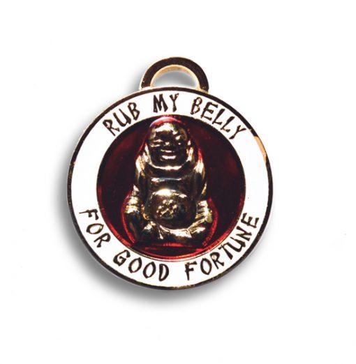 lucky buddha pet charm